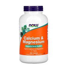 Кальций и Магний Calcium & Magnesium Now Foods таблетки №250 - Фото