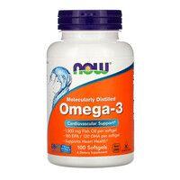 Омега-3 1000 мг Now Foods 100 желатиновых капсул