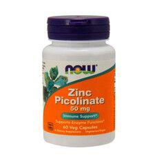 Zinc Picolinate Now Foods веган капсули 50 мг №60  - Фото