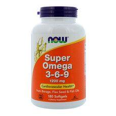 Супер Омега 3-6-9 ТМ Нау Фудс / Now Foods 1200 мг 180 капсул