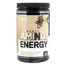 Аминокислоты Essential Amino Energy Optimum Nutrition cafe vanilla 300г  - Фото