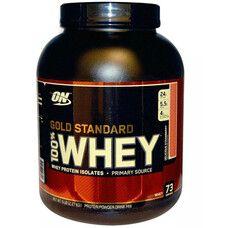 Optimum Nutrition Сывороточный протеин 100% WHEY Gold Standard смачна полуниця 2,27 кг  - Фото