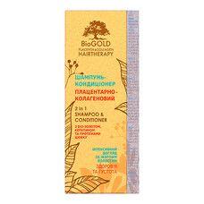 Шампунь-кондиціонер плацентарно-колагеновий для жирного волосся Біоголд 200 мл - Фото