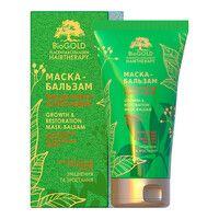 Маска-бальзам плацентарно-коллагеновая для всех типов волос Биоголд с био-золотом, кератином и протеинами шелка 150мл