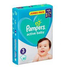Подгузники для детей Active Baby ТМ Памперс / Pampers (6-10 кг) №82