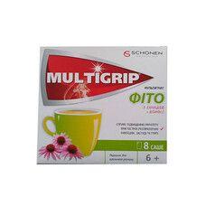 Мультигрипп® Фито с эхинацеей и витамином С порошок в саше №8