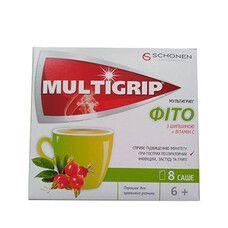 Мультигрипп® Фито с шиповником и витамином С порошок в саше №8