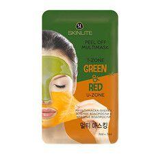 Мультимаска пленка для лица красные водоросли + зеленые водоросли ТМ Скинлайт / Skinlite 2 шт по 7 мл