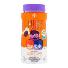 Вітамін С для Дітей Апельсин Полуниця U-Cubes Children's Vitamin C Solgar 90 жувальних цукерок - Фото