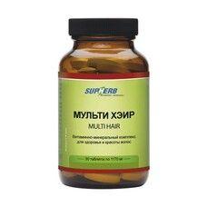Витамины для волос Мульти Хейр таблетки №30 ТМ Сапхерб / SupHerb