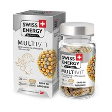 Витамины Swiss Energy MultiVit капсулы №30 - Фото