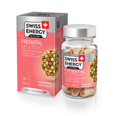 Вітаміни для вагітних і годуючих жінок Swiss Energy Prenatal Multivit капсули №30 - Фото