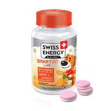 Вітаміни дитячі желейні Swiss Energy SmartVit Kids №60 - Фото