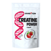 Креатину моногідрат Creatine Power 500 г Полуниця ТМ Вансітон / Vansiton - Фото