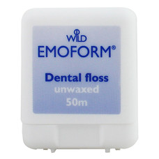 Emoform Зубна нитка невощена тонка 50м - Фото