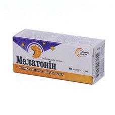 Мелатонин желатиновые капсулы 3 мг №30