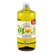 Зеленая Аптека шампунь для жирных волос Календула и розмариновое масло 1000 мл