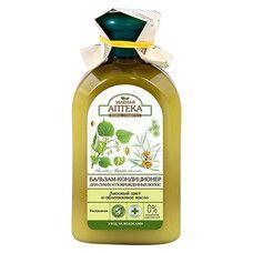 Зеленая Аптека бальзам-кондиционер для сухих и поврежденных волос Липовый цвет и облепиховое масло 300 мл