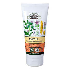 Зеленая Аптека маска Лопух и протеины пшеницы против выпадения волос 200 мл
