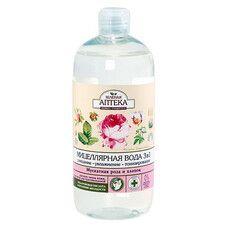 Зеленая Аптека мицеллярная вода 3 в 1 Мускатная роза и хлопок 500 мл