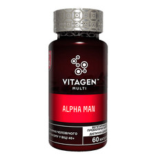 Вітаджен №02 Альфа Мен / Vitagen Alpha Man капсули №60  - Фото