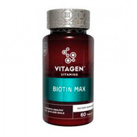 Витаджен N09 Биотин макс / VITAGEN BIOTIN MAX таблетки №60 - Фото